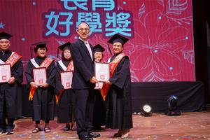 Personal Attendance award of the elder students